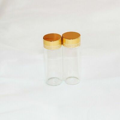 20 Pieces 40ml 30x80mm Tiny Small Empty Clear Bottles Glass Vials With Screw Cap