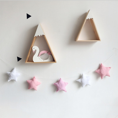 Cotton Star Baby Bed Toy Crib Pendant Nursery Decor Wall Hangings Shower Gifts