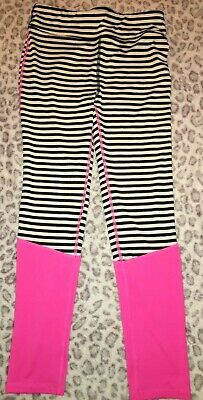 Girls Xl Extra Large Ideology Black White Neon Pink Active Wear Stretchy Pants !