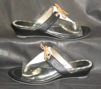 96de59ef5f Sperry Top-Sider leather open toe thong mules sandals Women s shoes size ...