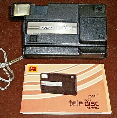 Vintage Kodak Tele Disc Camera With Flash And Instruction Booklet Rare