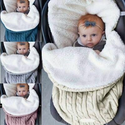 Swaddling Blanket Infant Stroller Sleep Sack Sleeping Bag Baby Wrap Knit Envelop