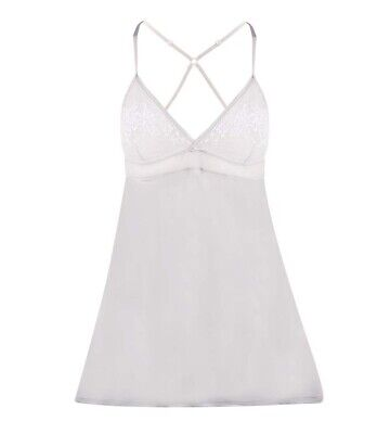 Intimo Angelique Slip, Ice Blue (Silver/Grey) Size 14, BNWT