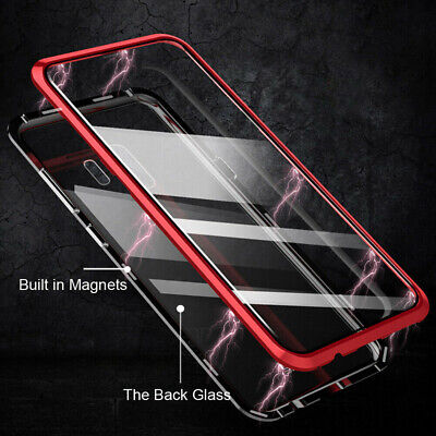 Magnetic Adsorption Clear Tempered Glass Case Cover For Samsung S10 Plus Lite