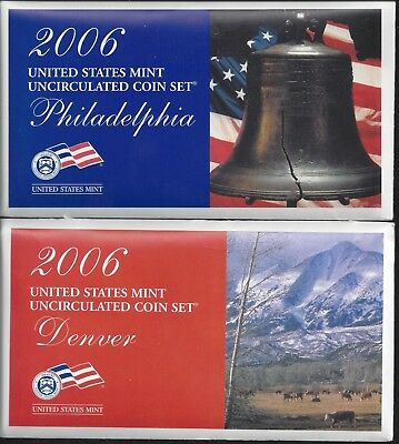 2006 Us Mint Set - P & D Uncirculated - 20 Coin Set - Including State Quarters