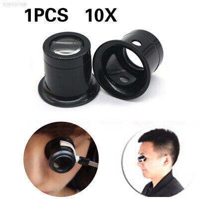 059E Durable Jewellery Magnifier Magnifying Lens Jewelry Testing 10x ABS Black