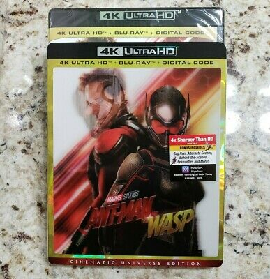 ANT-MAN AND THE WASP (4K Ultra HD Blu-ray Disc and Digital) Sealed NEW