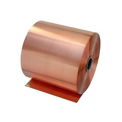 Size 0.1x1m Metal Copper Sheet Plate Guillotine Cut Material 0.02mm-0.05mm Thick