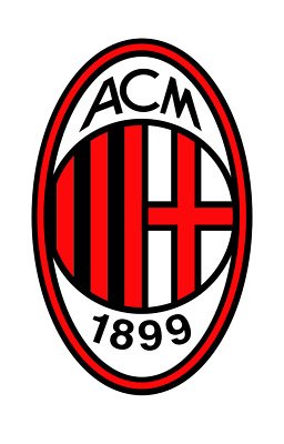Ac Milan Milano Sticker Car Bumper Decal Small Round Serie A Italy Italia New !!