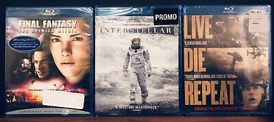 Lot New Interstellar + Final Fantasy Spirits Within + Edge of Tomorrow Blu-Ray