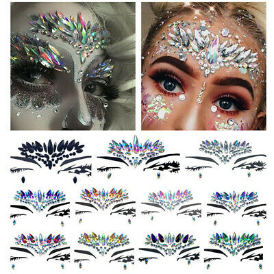 Rhinestone Jewels Body Adhesive Stickers Tattoo Face Gems Party Festival Party
