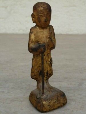 Mönch, Monk from Myanmar ( Burma ) in Gold, very beautiful, 10 cm, 24 g !