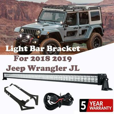 52 Cree Led Work Light Bar Combo Mount Brackets For Jeep