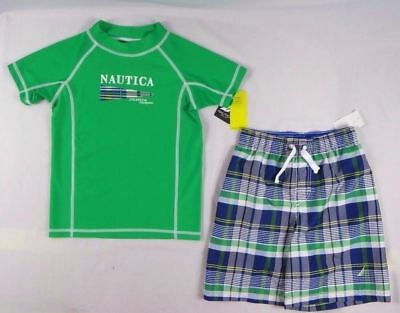 713dbc58b4 Nautica Boys Set, Boys 2-Piece swimwear Rash Guard & Board Shorts - 5