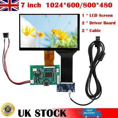 7Inch TFT LCD Monitor Touch Screen+Driver Board HDMI VGA 2AV for Raspberry Pi 3