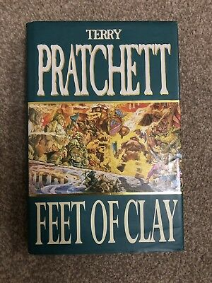 SIGNED TERRY PRATCHETT Feet Of Clay 1/1 HBK - DISCWORLD