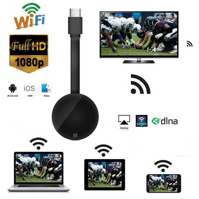 MiraScreen TV HD DONGLE MEDIA VIDEO STREAMER AIRPLAY 2.4G WIFI Per Android Q4M5