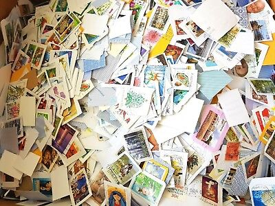 450 gr  All Stamped Used Australian Stamps *On Papers Bulk (kiloware)