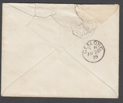 Victoria TPO - 1879 Cover cancelled TPO2-Down3 Rated R