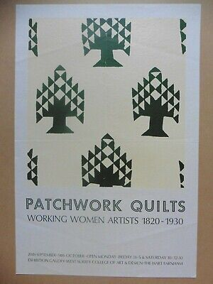 Original Poster Patchwork Quilts Lithographie