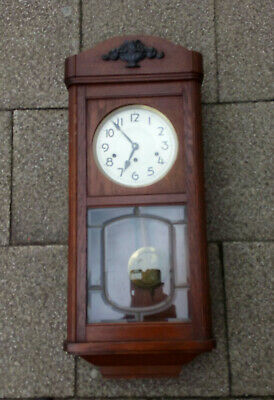 Large German 1/4 Chime Wall Clock In Good Working Order