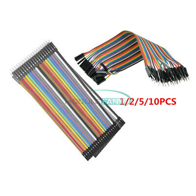 1/2/5/10PCS 20cm 2.54MM 1P-1P 40pin Male to Female Dupont Wire Jumper Cables