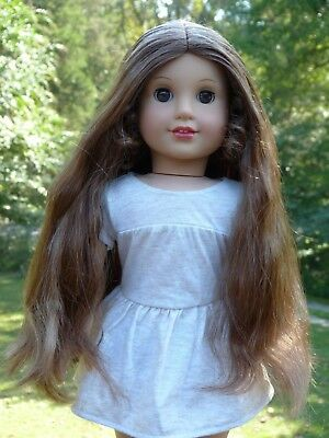 WIG off Marie Grace American Girl Doll Parts Repair Custom Brown TLC