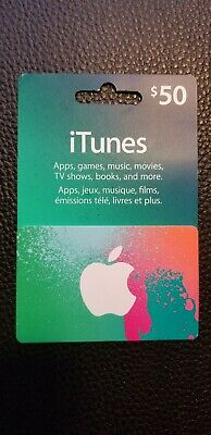 100 CAD (50 CAD * 2) Canadian iTunes Prepaid Card.  (iTunes Store for Canada)
