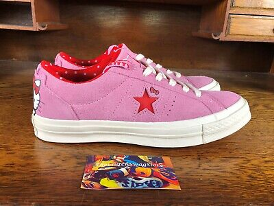 52a4b4d7c05704 Converse One Star Ox Hello Kitty Womens Casual Shoe Pink Red White 162939C  Sz
