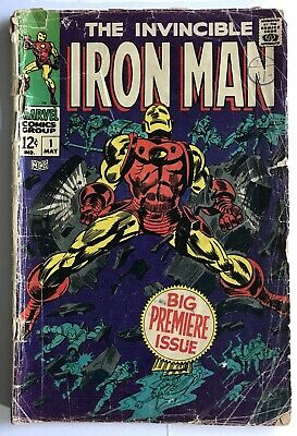 Iron Man #1 - Key First Issue - Cheapest On eBay - Low Grade - Marvel Comics