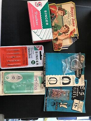 Vintage Singer Sewing Machine Trade Card - Lot of 6 Items EMPTY BOXES F6