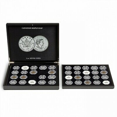 36pc ENCAPSULATED CANADIAN MAPLE LEAF SET - 1988-2019 + 4 LIMITED EDITION COINS