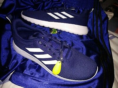 separation shoes 73af4 391cf New ADIDAS Mens Lite Racer CLN Running Shoe Dark BlueWhite sz 12 🔥NEW