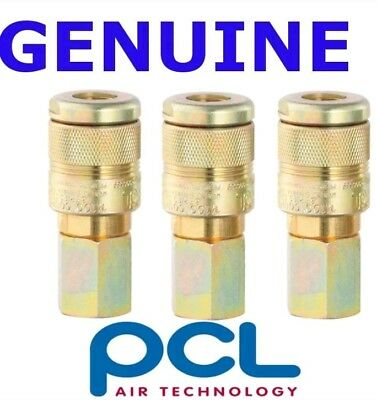 3 X NEW PCL 100 Series Female Couplings 1/2 BSP Female Thread Air fitting  AC5JF