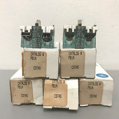 Lot of 7 New Westinghouse PB1A Contact Blocks  9084A18G01