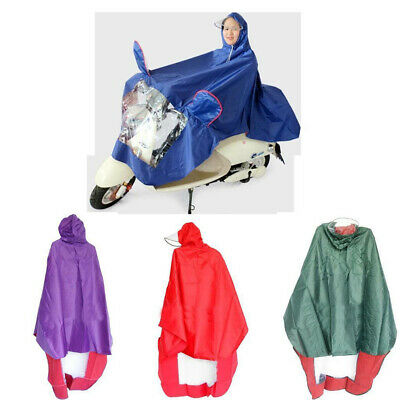 EG_ Universal Motorcycle Scooter Rain Resistant unventilated  Raincoat Hooded Ra