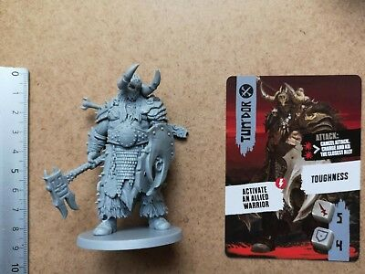 Tun'dor Ogre Mercenary Miniature+ Card / Barbarian / Hate Board Game Cmon G101