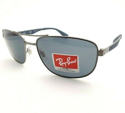 49a4043069 RAY BAN RB3528 006 71 Matte Black Classic Square Sunglasses w  Green ...