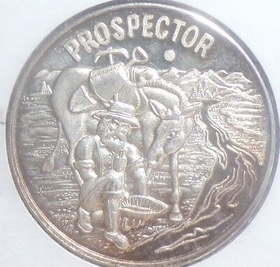 Prospector Covered Wagon Silver Round .999 Fine 1 troy oz.