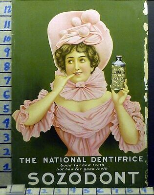 1905 Dentistry Medical Sozodont Powder Tooth Health Fashion Vintage Ad Bj86