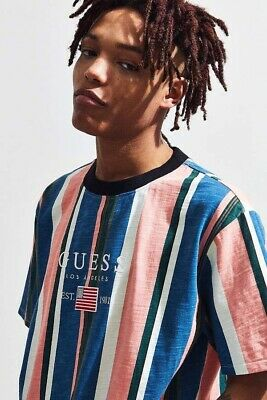 a82ef0b2cd Guess Los Angeles David Sayer Striped Tee T Shirt Urban Outfitters! Size S  Small
