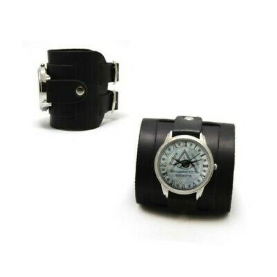 Watch Strap JD Genuine Thick Leather Vintage Classic Buckle Wrist Retro New