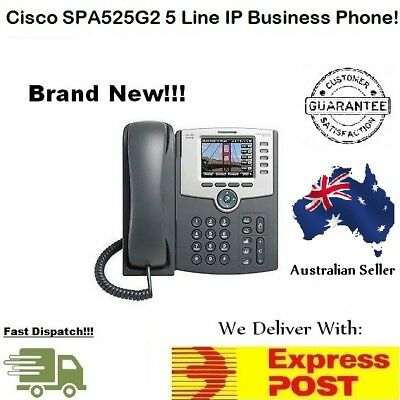 Cisco SPA525G2 5 Line IP Phone Brand New Free Express Delivery!!!