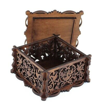 MARKET SPECIAL Handcrafted Carved Accessory Boxes - Wood Choice