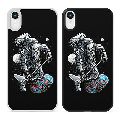 ASTRONAUT & JELLYFISH Phone Case Cover For iPhone Samsung Space Galaxy Moon Nasa