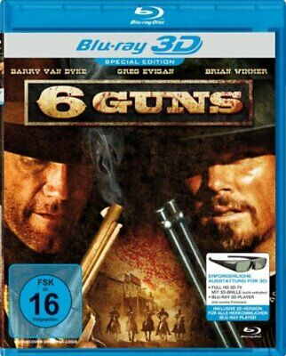 6 GUNS - BLU RAY 3D & 2D - Region B - Barry van Dyke, Sage Mears