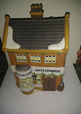 Dickens Village Building Dept Department 56 Geo Weeton Watchmaker