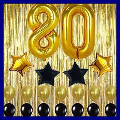 Gold 80Th Birthday Decorations LARGE Shiny GOLD Fringe Foil Curtain Backdrop Par