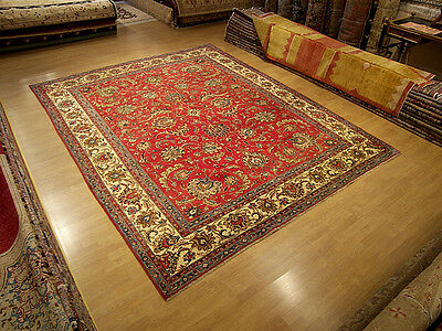 9 x 12 Handmade Antique1930s Veggie Dyes Wool Persian Rug_Beautiful Warm Colors