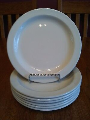 """7 Excellent Midwinter England Stonehenge White 7"""" Bread & Butter Plates"""